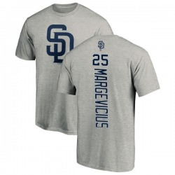 Men's Nick Margevicius San Diego Padres Backer T-Shirt - Ash