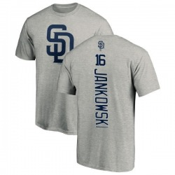 Men's Travis Jankowski San Diego Padres Backer T-Shirt - Ash